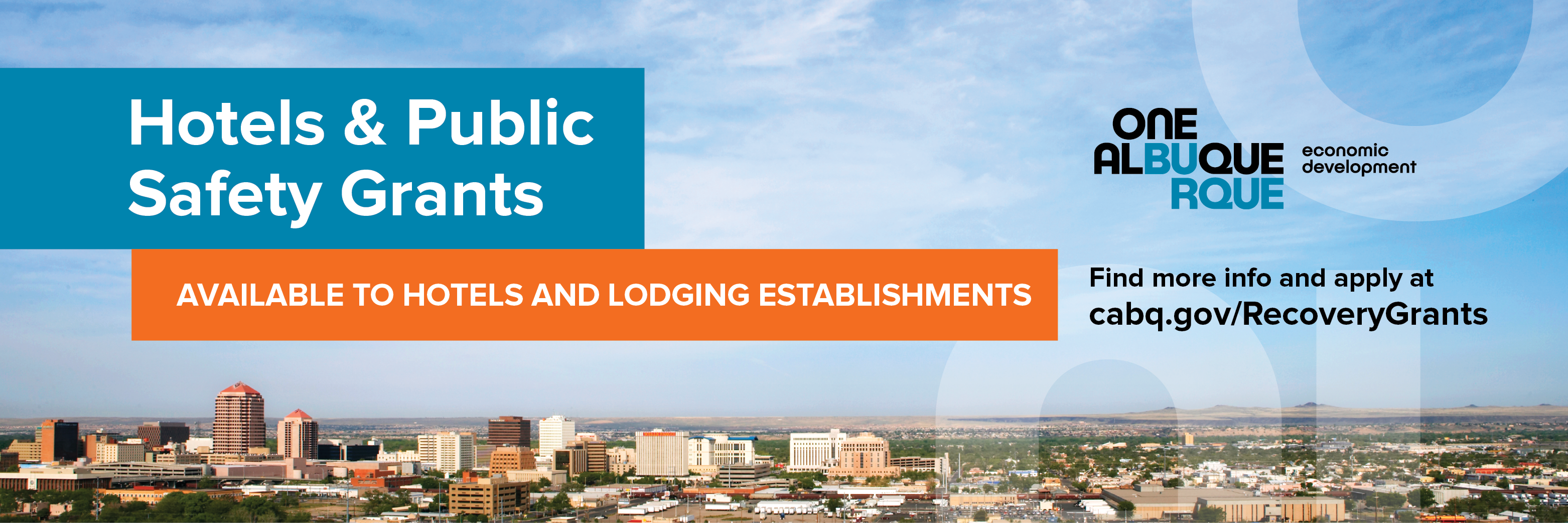 Hotels & Public Safety Grants Header