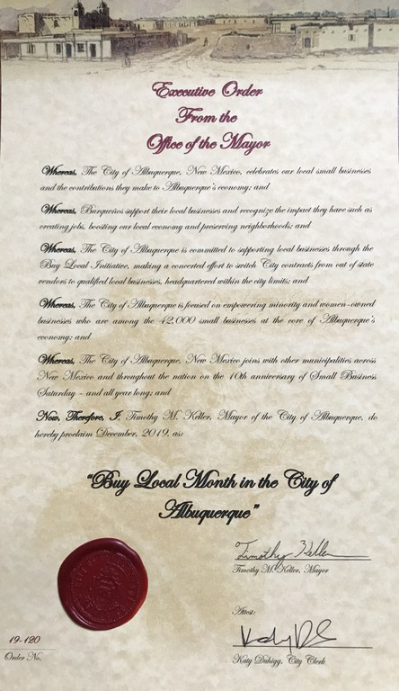 Image of 'Buy Local Month' Proclamation - 2019