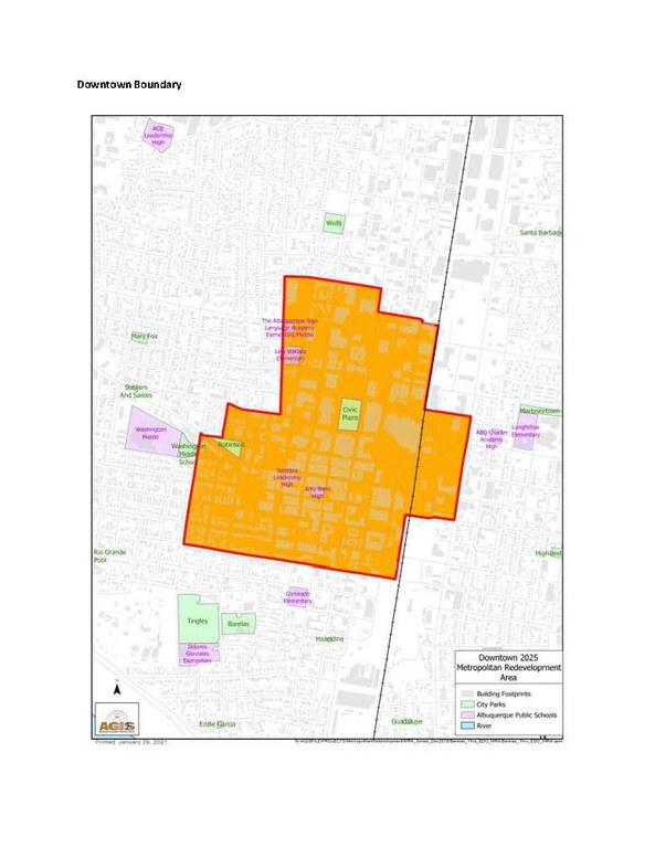 Downtown Mainstreet Recovery Grant Boundary