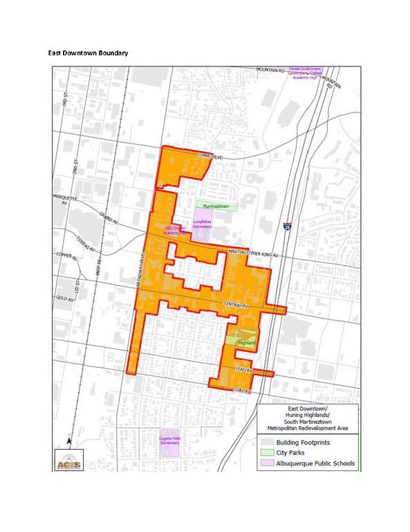EDo Mainstreet Recovery Grant Boundary