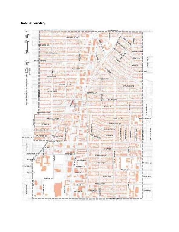 Nob Hill Mainstreet Recovery Grant Boundary