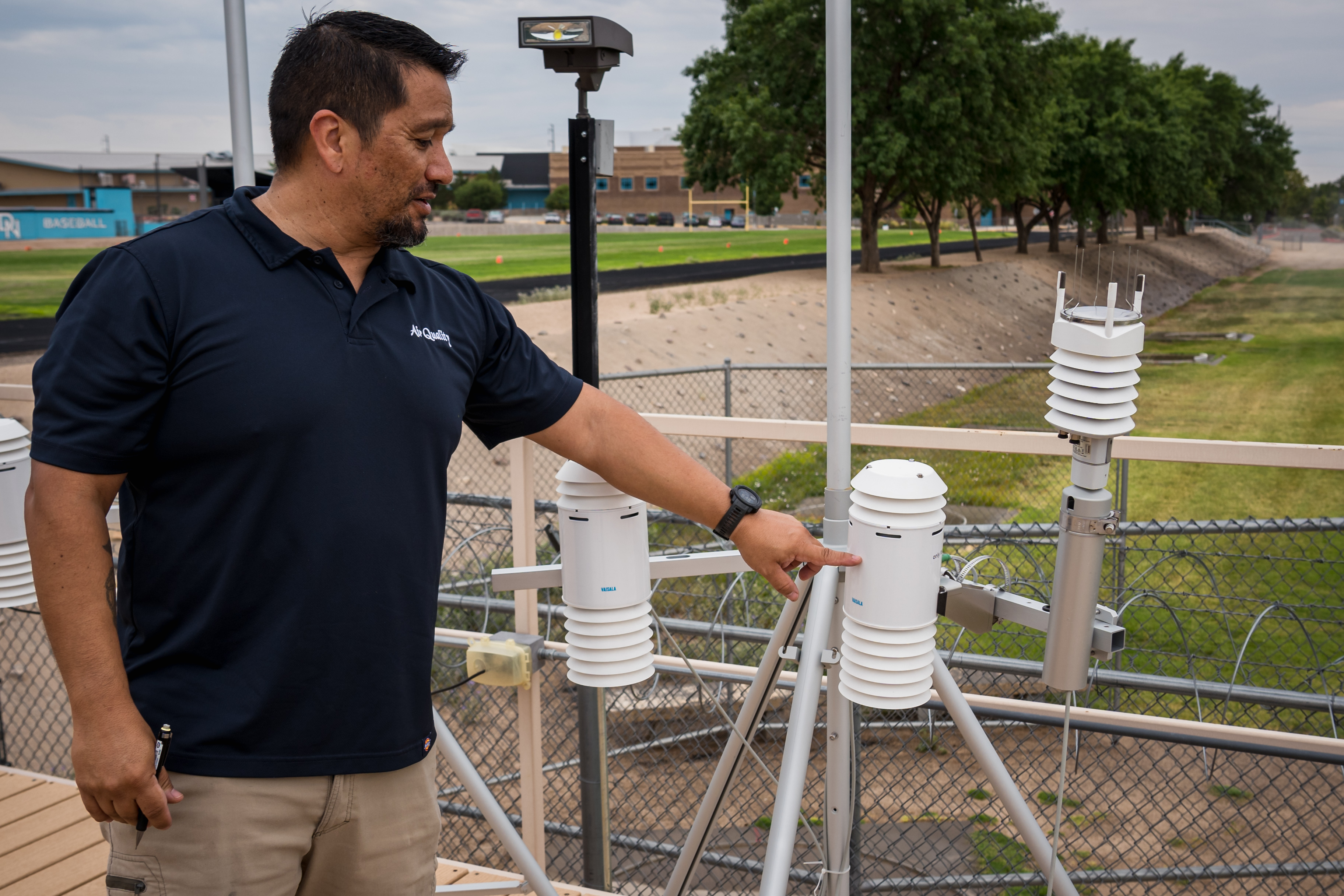 A photo of Air Quality monitoring.