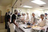 Food preparation assembly line