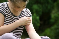 Girl Scratching Image