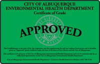 Restaurant Inspection Results City Of Albuquerque