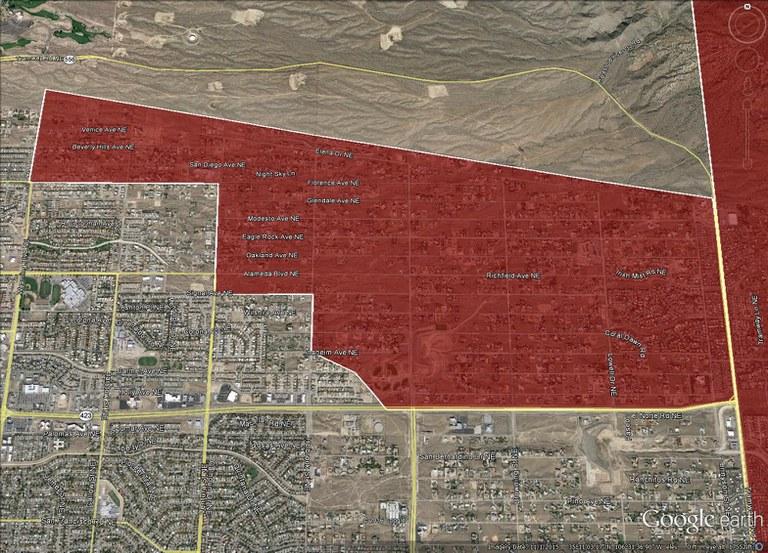 Plague Monitoring Area in North Albuquerque Acres
