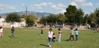 Children enjoying lunch outside
