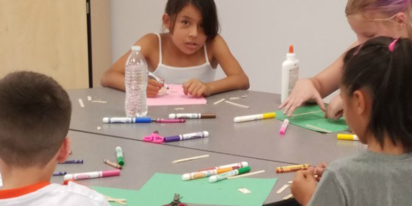An image of children participating in a before and after school program.