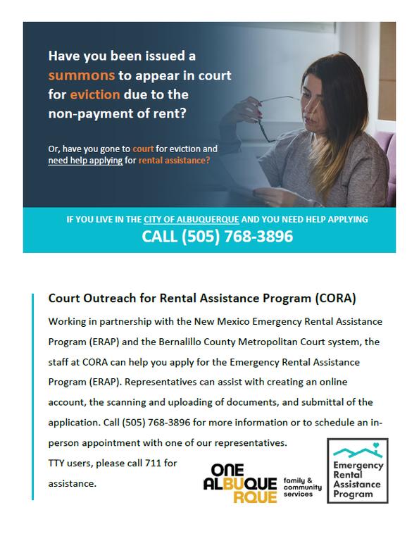 Court Outreach for Rental Assistance Program