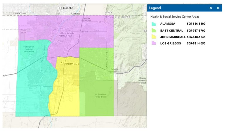 Health and Social Service Centers Service Boundaries