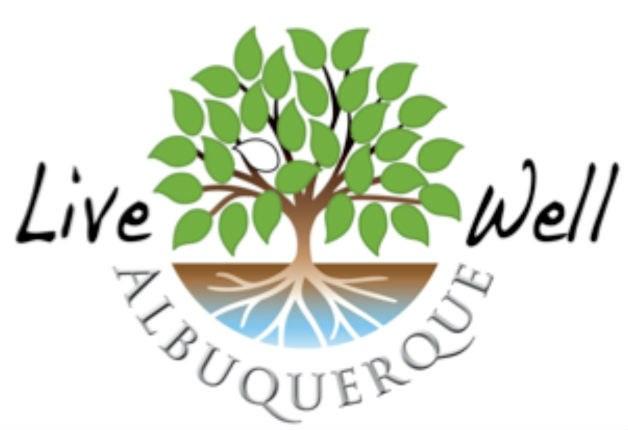 The logo for Live Well Albuquerque.