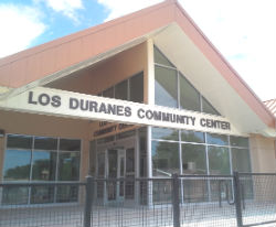 An image of the Los Duranes Community Center's exterior.