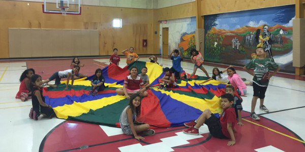 An image of children participating in a City Recreation Program.