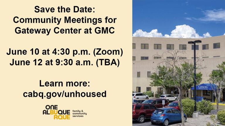 Gateway at GMC June Community Meetings