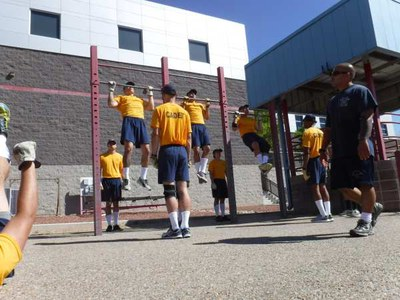 Cadets training at the academy.