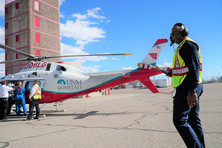 AFR personnel working with UNM Lifeguard