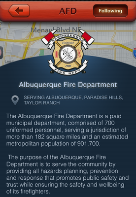 caption:Screenshot of the mobile app PulsePoint.