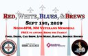 Red, White, Blues, and Brews Event Banner