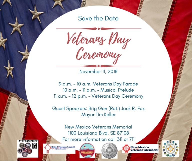 Veterans Day Celebration 2018 Poster