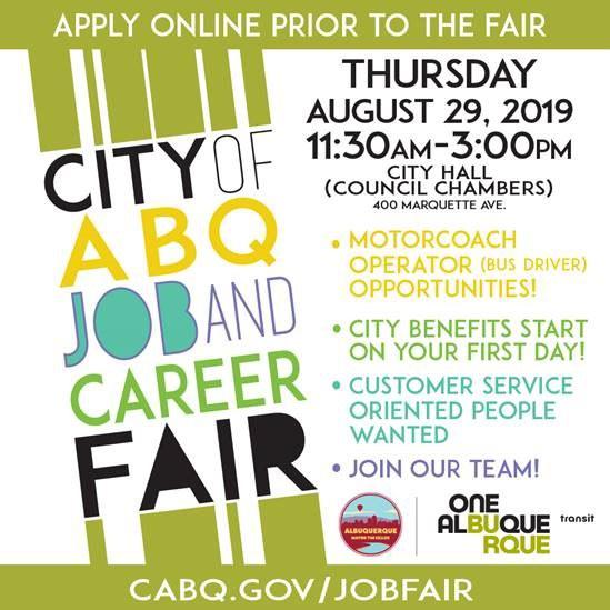 2019 Transit Job Fair Flyer