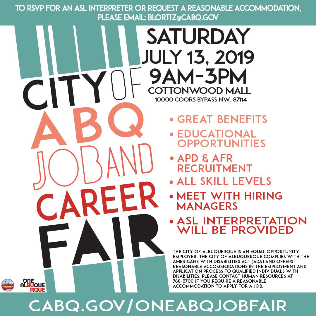 July 2019 Job Fair Flier
