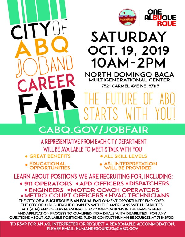 Job Fair Flyer Oct. 2019