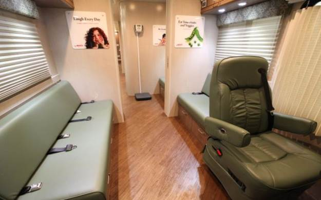 Image of the interior of the Mobile Health Center.