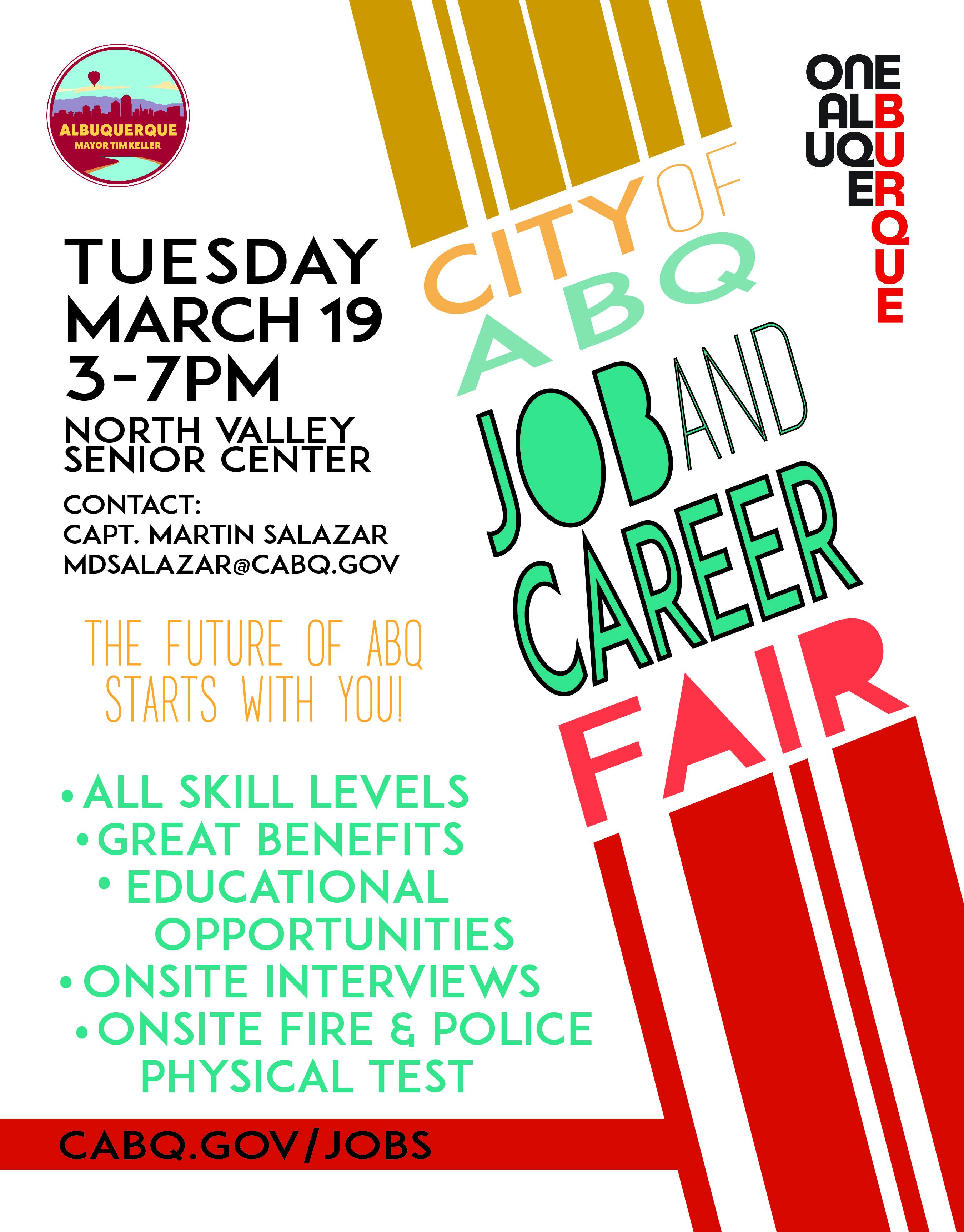 2019 One Albuquerque Job Fair Flier