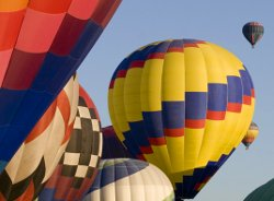 Enjoy the sights and colors each October with the Albuquerque International Balloon Fiesta.