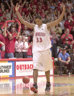 Image for former UNM Lobo Basketball standout Danny Granger at The Pit.