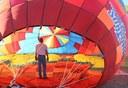 Standing Inside the Sunport Balloon