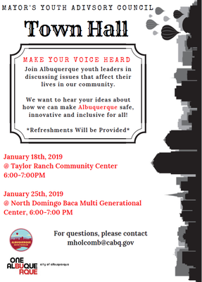 Mayor's Youth Advisory Council Town Hall