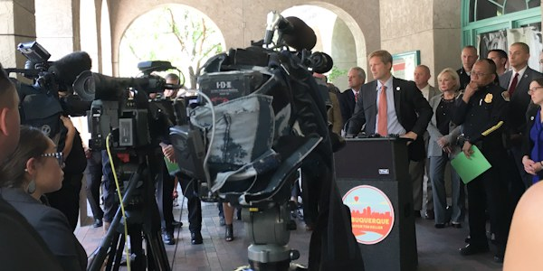 Mayor Keller downtown public safety district announcement September 12 2018