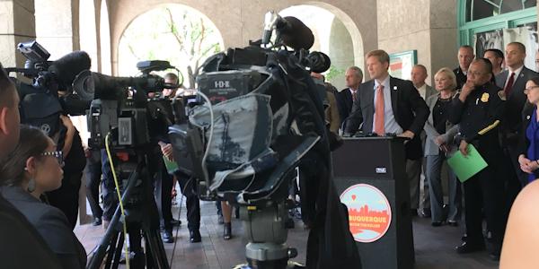 Mayor Keller downtown public safety district announcement September 12 2018
