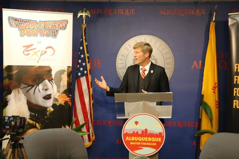 Mayor Tim Keller announces Gathering of Nations Week