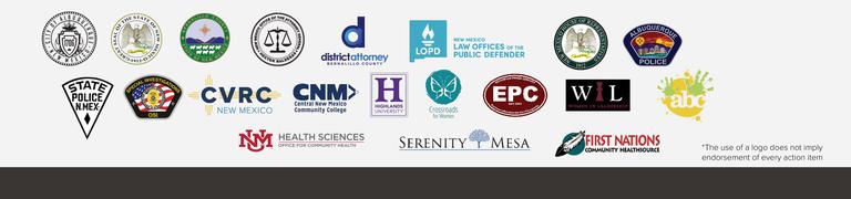 Logos of various agencies participating in the Metro Crime Initiative.