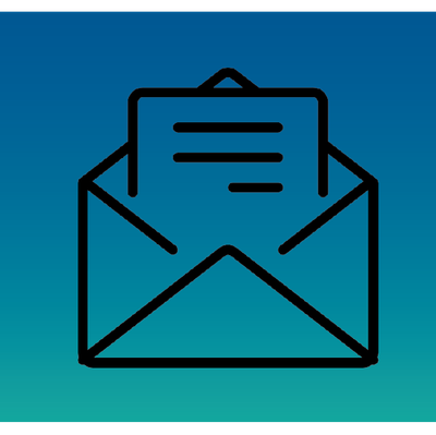 A JPEG of an  Envelope with a Letter for rape kit backlog tile on Crime Page.