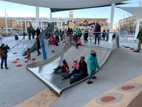 Civic Plaza Playground Open, Solar installed, as City Nears End of Two Years of Major Upgrades to Civic Plaza