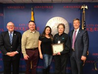 Mayor Keller Honors Transit Bus Driver with One Albuquerque Award
