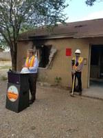 Mayor Tim Keller Leads Demolition of Abandoned Property