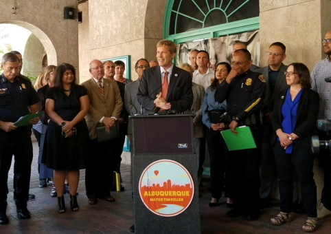 Mayor Tim Keller Unveils New Downtown Public Safety District