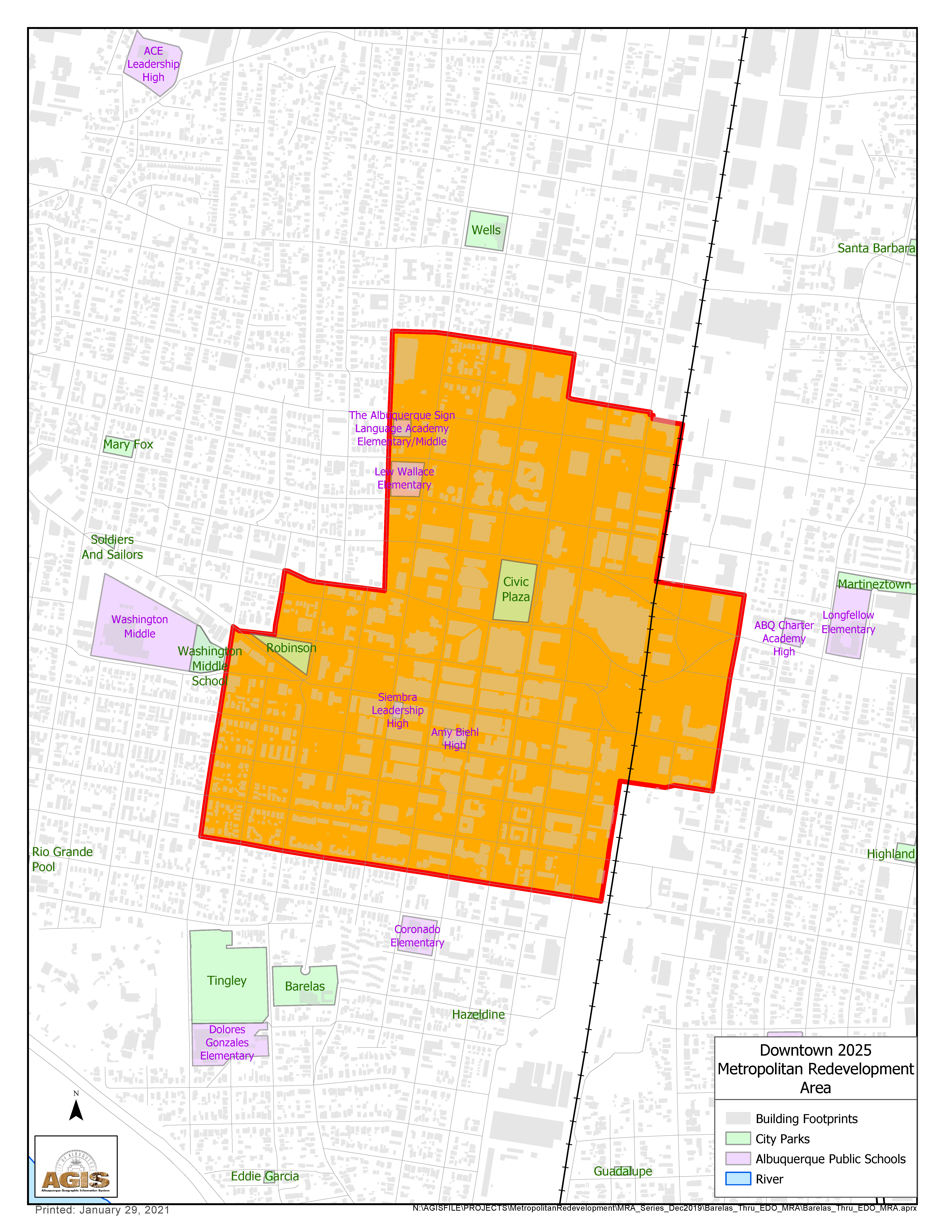 Downtown MRA Map