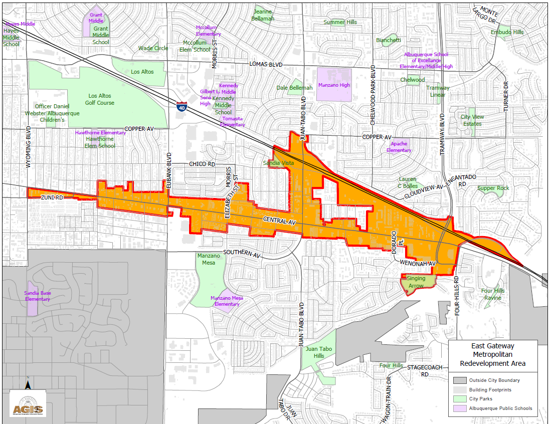 East Gateway MRA Map