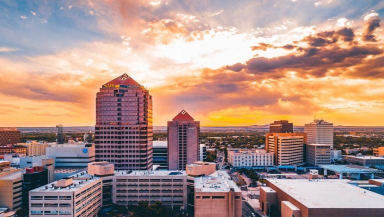 Downtown Albuquerque Skyline at dusk