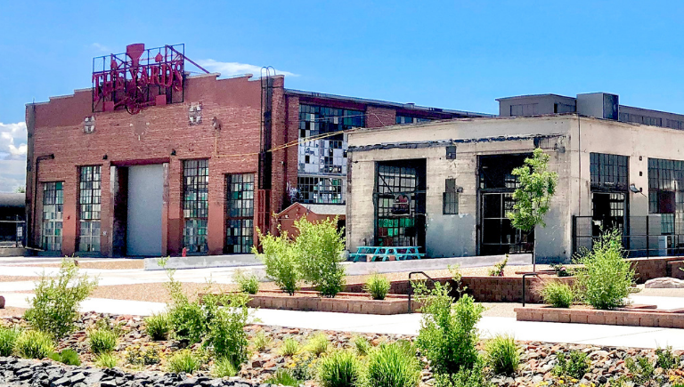 Outside view of the Railyards