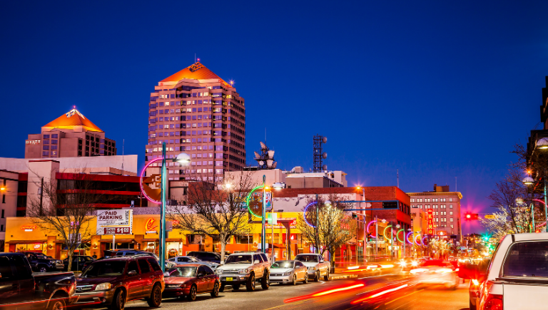 Downtown Albuquerque at Night