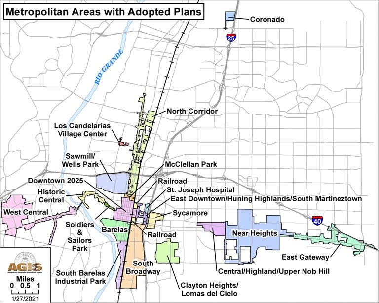 Map of Metropolitan Redevelopment Areas Jan. 28, 2021