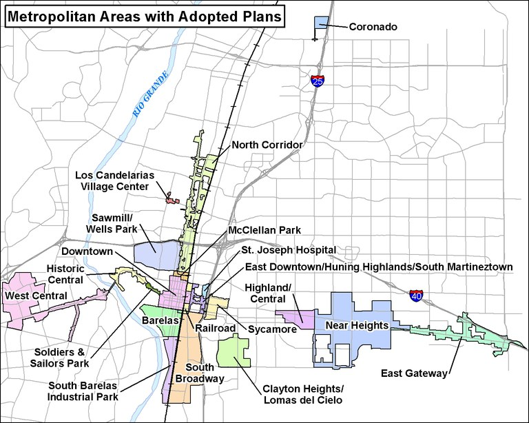 Map of Metropolitan Redevelopment Areas