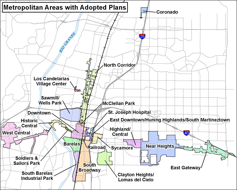 Map of Metropolitan Redevelopment Areas