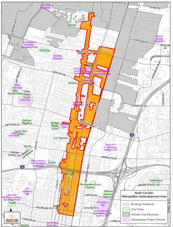 North Corridor MRA Map